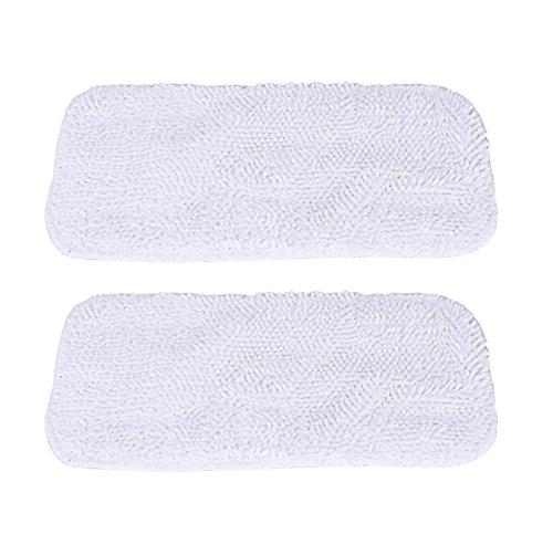 GIBTOOL Replacement Luna Cloth Pads for Sienna Luna Steam Mop Head SSM-3006 Microfiber Mop Pads 2 Pcs (2)