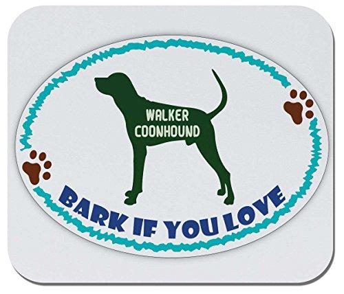 Walker Love (Makoroni - BARK IF You Love Walker Coonhound - Non-Slip Rubber Mousepad, Gaming Office Mousepad)