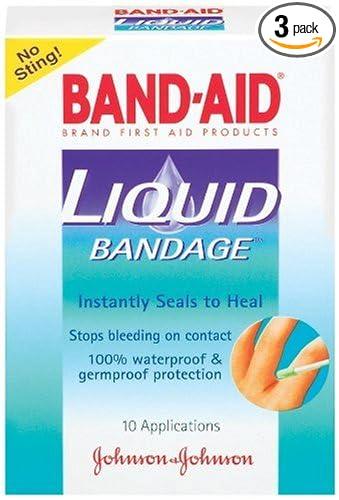 amazon com band aid johnson johnson band aid liquid bandage 10