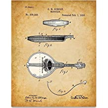 Mandolin Art Print - 11x14 Unframed Patent Print - Great Music Room Decor or Gift for Musicians