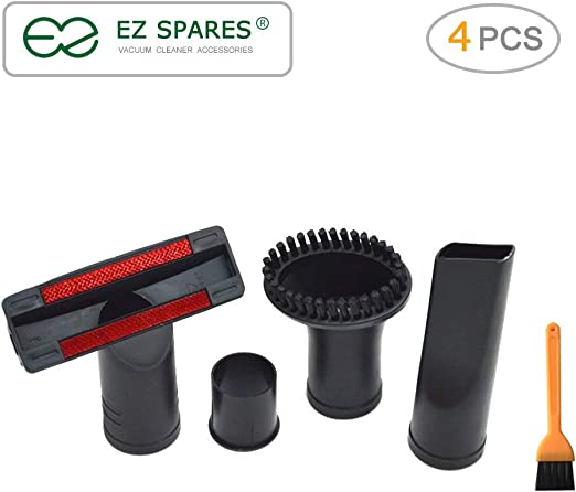 Flexible Crevice Tool Replacement 32mm to 35mm Vacuum Cleaner Accessories Brush Kit for Standard Hose Set of 7