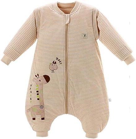 Saco de dormir infantil para bebés Bata de dormir de invierno Onesies Pijamas Abrigos Saco de dormir de pierna dividida de algodón cálido para niños, YYY010A-Thin, M: Amazon.es: Hogar