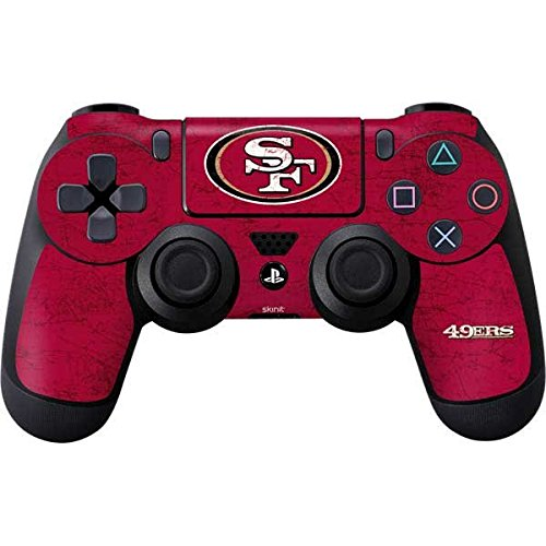 NFL San Francisco 49ers Distressed Skin for Sony PlayStation 4/ PS4 Dual Shock4 Controller