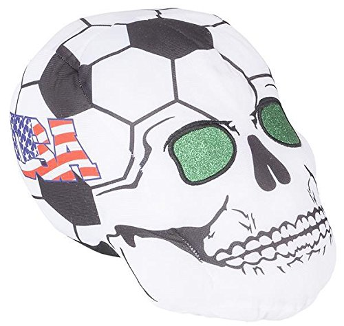 11'' USA SOCCER BALL SKULL HEADS, Case of 24 by DollarItemDirect
