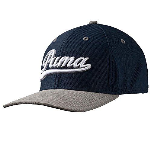 PUMA Golf Kids Boy's Script Cap (Big Kids) Peacoat/Folkstone Grey Hat One Size
