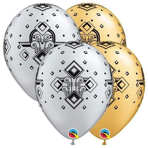 Qualatex Latex Balloons 49694-Q ART DECO PATTERN 11 x 1 x 13 -