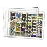 Generic YH-US3-160519-343 8yh3426yh s Beads Craft Box Organizer Jewelry Fi Bead Storage Bead Stor Display Jewelry Box Orga Tray 45 Piece Tray 45 Findings Beads Craft