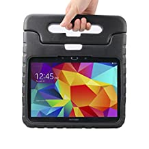 NEWSTYLE Samsung Galaxy Tab 4 10.1 Shockproof Case Light Weight Kids Case Super Protection Cover Handle Stand Case for Kids Children For Samsung Galaxy Tab 4 10.1-inch SM-T530 SM-T531 SM-T535 - Black Color