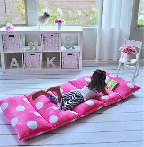 Heart to Heart GIRL'S FLOOR LOUNGER SEATS COVER AND PILLOW COVER - PERFECT READING AND WATCHING TV CUSHION - GREAT FOR SLEEPOVERS AND SLUMBER PARTIES (Slumber Kids Furniture)