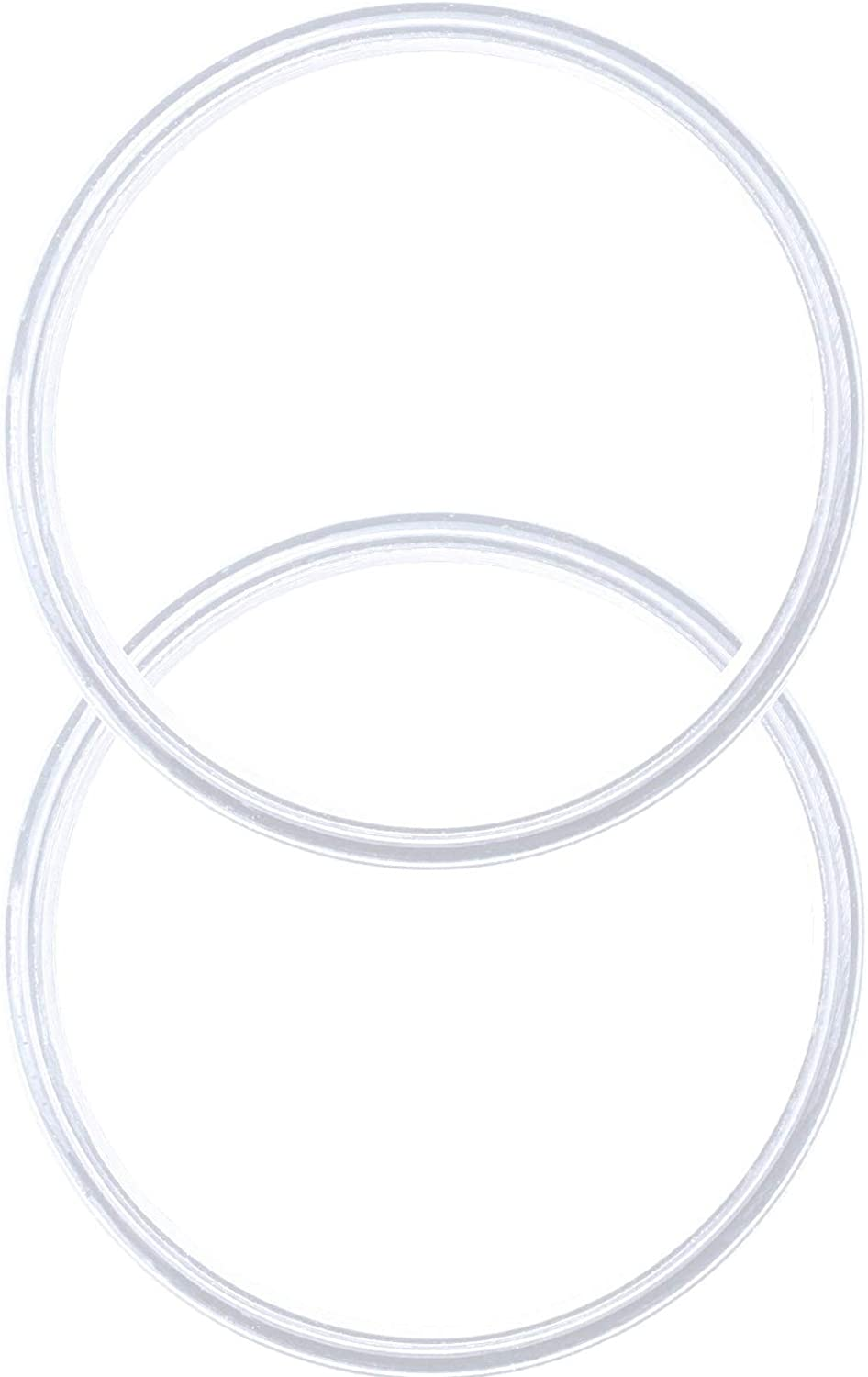Pack of 2-20/10 oz Replacement Rubber Lid Ring, Gasket Seals, Lid for Insulated Stainless Steel Tumbler, Cups Vacuum Effect fit for Brands- Yeti, Ozark Trail, Beast, White by C&Berg Model 2020