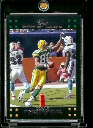 2007 Topps Football # 144 Donald Driver - Green Bay Packers - NFL Trading Cards