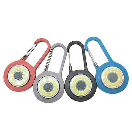 st/ärkste Stroboskop-Taschenlampe mit Karabiner f/ür Bergrucksack Vimmor Kleine Mini-LED-Karabiner Taschenlampe Schl/üsselanh/änger Superhelles Notfalllicht 3 Modi wei/ß