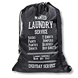 Wajt Najt - Best Laundry Bag with Reinforced Shoulder Strap and Drawstring - Large Size 27 x 39 ' for College Dorm Room and Households - Perfect College Student Gift