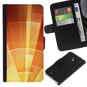 iBinBang / Flip Funda de Cuero Case Cover - Escudo de Orange Summer Soleado - Samsung Galaxy S4 Mini i9190 MINI VERSION!