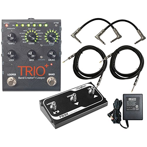 Digitech Trio+ Band Creator + Looper w/ FS3X Footswitch, 4 Cables, and Power Supply by DigiTech