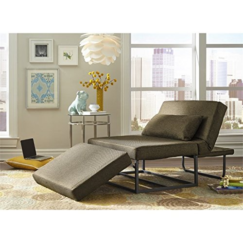 Relaxalounger Amare Otto-Kube Convertible Chaise Lounge in Taupe