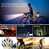YSJ USB Rechargeable Bike Lights Set, Super