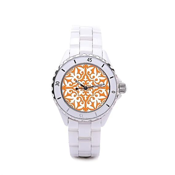 0c32325ff026 Algunos diferentes reloj de cerámica de las mujeres de cerámica color blanco  Silvery para mujer  Amazon.es  Relojes