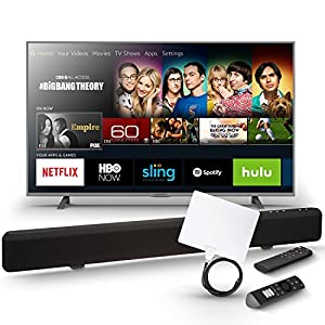 Element 50-Inch Fire TV Edition TV with Sound Bar and Digital Antenna