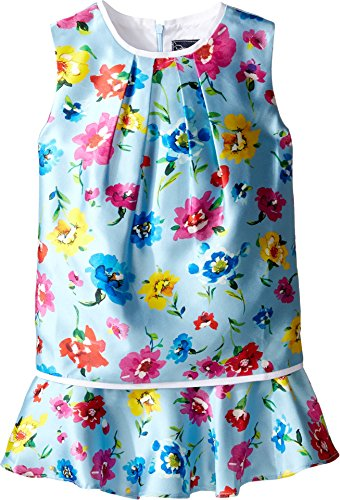 OSCAR DE LA RENTA Childrenswear Baby Girl's Scattered Flower Mikado Multi Layer Dress (Toddler/Little Kids/Big Kids) Capri Multi 10 ()
