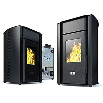 Estufa caldera de pellets Eco Spar modelo Hydro Alba Salida de calor de 18kW: Amazon.es: Bricolaje y herramientas