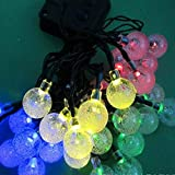 LED String Lights LEDs Solar Powered Waterproof Outdoor String Lights Christmas Decoration Lights for Patio Gardens Homes Landscape Wedding Party(Multicolour)