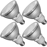 Luxrite LR20140 (4-Pack) 15W PAR30 CFL Light Bulb, Warm White 2700K, Flood Light Bulb, E26 Medium Base