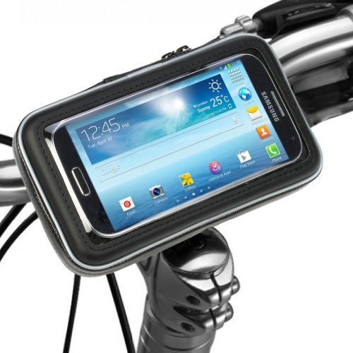 Bike Mount Holder - iKross Universal Smartphone iPhone Bicycle WaterProof Pouch Holster (X5 Handlebars)