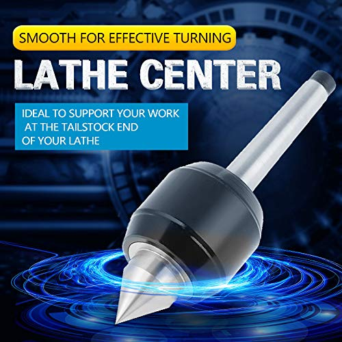 MT1 Revolving Center Smooth Angle 60/° Live Center Durable 1Pcs 0.005 Accuracy for Lathe