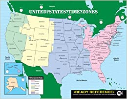 Us And World Maps With Time Zones Ready Reference 12 Pack - Time-zone-us-map