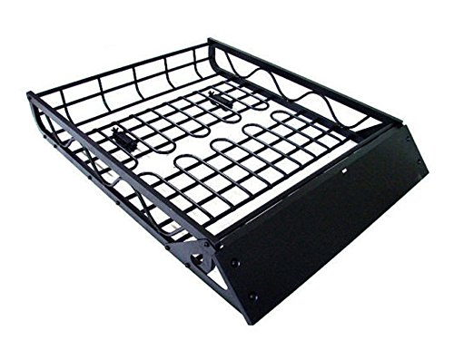 TMS ALUM-RFCARRIER-RCR5040A 50-Inch by 39-Inch Car Roof Rack Basket Cargo Top Luggage Carrier, Black