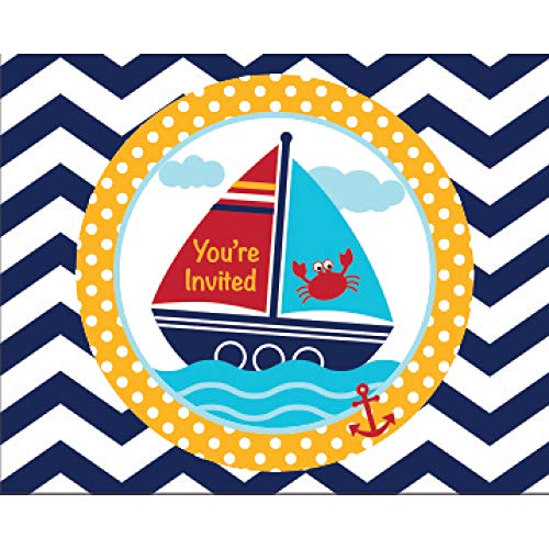 Ahoy Matey Baby Party Invitations - Pack of 24]()