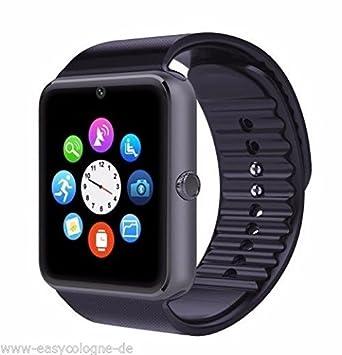Pcjob Smart Watch Smartwatch GT08 Bluetooth Reloj Móvil gsm SIM para Huawei P20, P20 Lite, P20 Pro, Y5 2018, Y6 2018, Y7 2018 Negro: Amazon.es: Electrónica