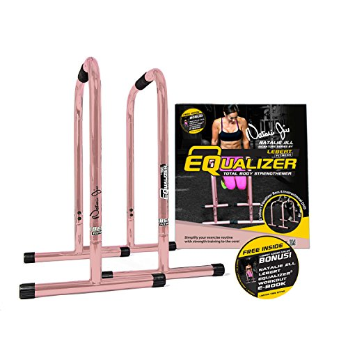 (Lebert Fitness EQualizer Bars Total Body Strengthener, Natalie Jill Signature, Rose Gold)