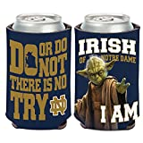 WinCraft Notre Dame Fighting Irish Official NCAA 4 inch Star Wars Yoda Insulated Coozie Can Cooler by 157959