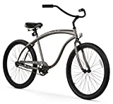 Firmstrong Bruiser Man Single Speed Beach Cruiser Bicycle, 26-Inch, Matte Grey For Sale