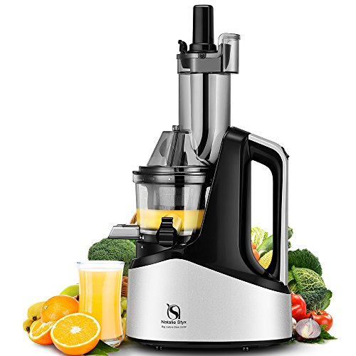 natalie-styx-wide-chute-anti-oxidation-slow-masticating-juicer-silver-240w-ac-motor-60-rpms-3-inches