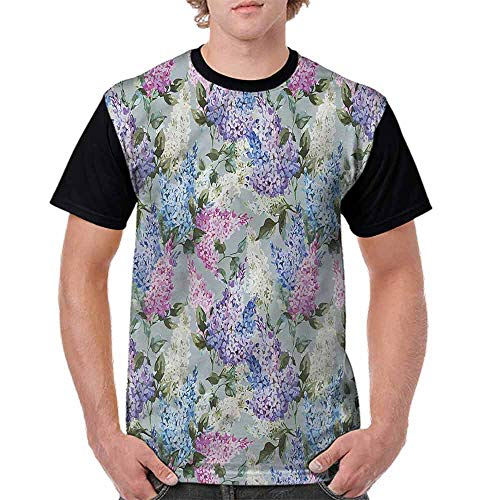 Teen t-Shirt,Floral Garden and Leaf Fashion Personality Customization