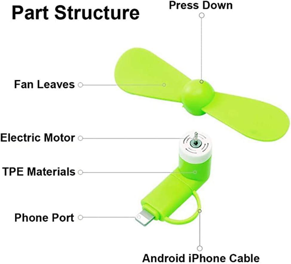 Nobranded 3 Pack Portable Phone Fan Rosa, Azul, Verde Phone Ventilador Ventilador Giratorio Plegable Port/átil para iPhone Android Ventilador de Tel/éfono Port/átil para iPhone Phone Fan