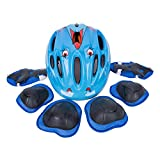SUNVP Child Cycling Multi-sports Bike Helmet Sets Adjustable Safety Protective Guard Gear with Knee Elbow Pads and Wrist (Pack of 7 pieces)