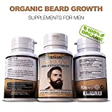 Organic Beard Growth Vitamins for Men – Manlier, Thicker, Fuller Facial Hair Supplement