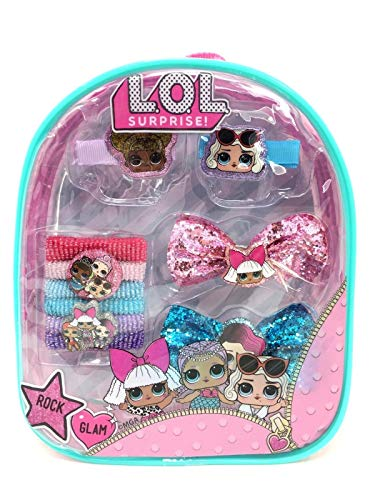 """Price comparison product image L.O.L Surprise! Hair Accessories Mini 8"""" Backpack (Hair Clips, Bows, Ponies)"""