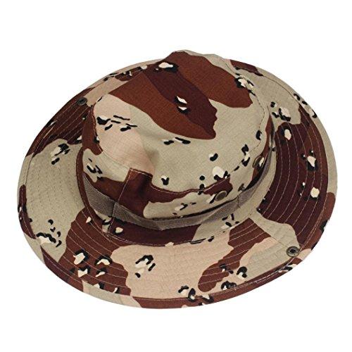 Boomboom Baseball Caps, Soft Bucket Hunting Fishing Outdoor Wide Cap Brim Military Boonie Hats (Khaki)
