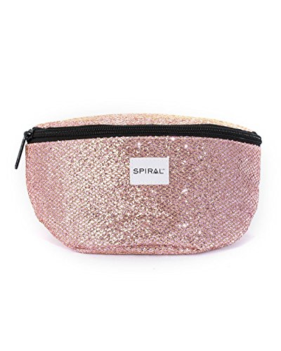 iHeartRaves Pink Bellini Glamour Fanny Pack, Small Waist - Bellini Strap