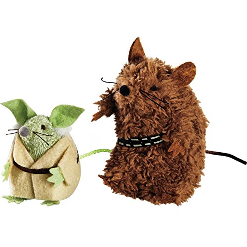 Star Wars Yoda & Chewbacca Mice Cat Toys, Pack of 2