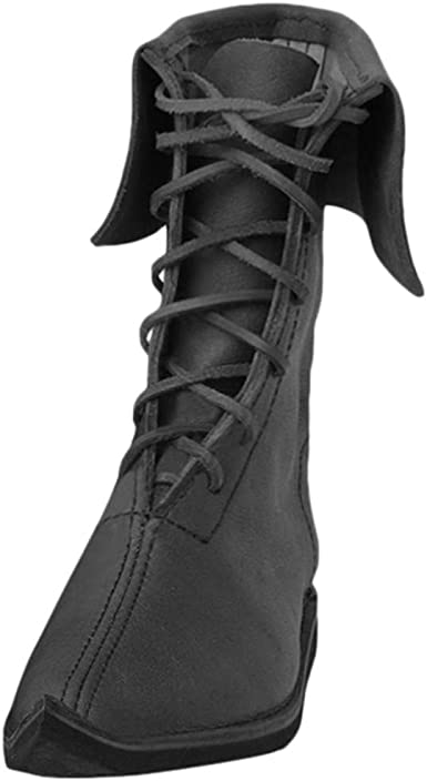 Knee High Boots Military Men/'s Solid Black Knight Leather Flat Casual Chic Shoes