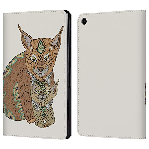 Official Pom Graphic Design Wild Cats Love Animals Leather Book Wallet Case Cover for Amazon Fire HD 8 (2017) ()