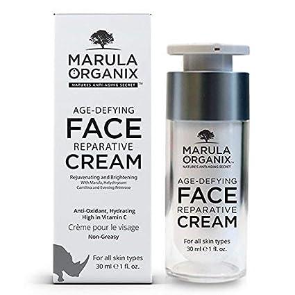Marula Organix Crema reparadora facial antiedad, antioxidante, hidratante, alta en vitamina C,