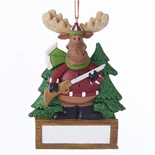 Kurt Adler Hunting Moose Ornament For Personalization 3.875 ()