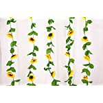 Charmly-2-Pack-Artificial-Sunflower-Garland-Fake-Silk-Sunflower-Vine-Home-Wedding-Party-Garden-Decor-Each-Vine-12-Flower-Heads-Each-8-ft-Long